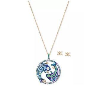 Betsey Johnson Pisces Zodiac Pendant Necklace